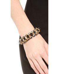 Lee Angel Crystal Baguette Box Link Bracelet