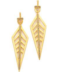 Paige Novick - Long Diamond Pave Earrings - Lyst