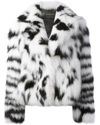 Versace Fox Fur Coat - Lyst