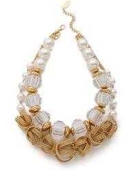Adia Kibur - Double Layered Necklace - Lyst