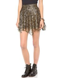 Re:named - Metallic Lace Skirt - Lyst