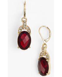 Anne Klein Stone Drop Earrings - Lyst