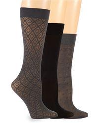 Ellen Tracy - Three Pack Trouser Socks - Lyst