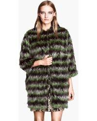 H&M Fake Fur Coat - Green