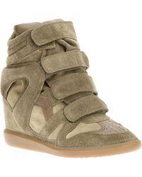 Isabel Marant 'Beckett' Hi-Top Sneakers - Lyst