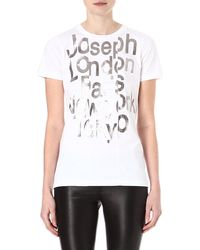 Joseph Graphic Cotton T-shirt - Lyst