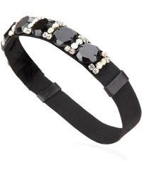 Marni Embellished Elasticated Hairband - Black