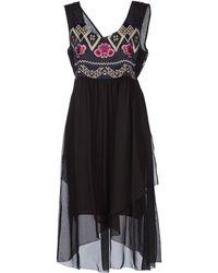 Odd Molly Knee-length Dress black - Lyst