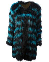 Sly010 - Striped Fur Coat - Lyst