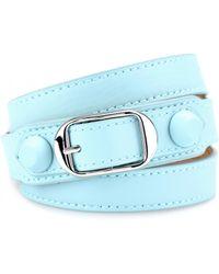 Balenciaga Classic Matte Stud Leather Bracelet - Lyst