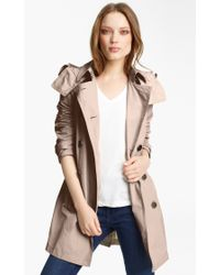 Burberry Brit 'Balmoral' Packable Trench, Beige - Lyst