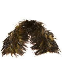 Jamin Puech Mirza Feather Scarf - Green
