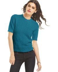 Keds -  Short Sleeve Eyelash Knit Sweater - Lyst