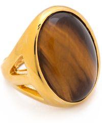 Kenneth Jay Lane - Large Stone Ring - Lyst