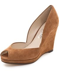 Kors by Michael Kors - Vail Suede Wedge Court Shoes - Lyst