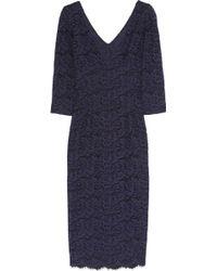 L'Wren Scott Cottonblend Lace Dress - Blue