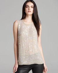 Nicole Miller Artelier - Sleeveless Iridescent Sequin Top - Lyst