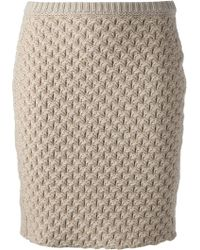 See By Chloé Knit Skirt - Lyst