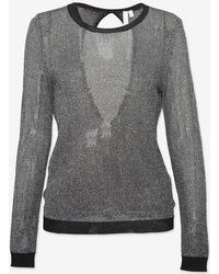 Shae - Exclusive Open Back Lurex Sweater - Lyst