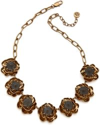 Tory Burch - Crystal Rose High Necklace - Lyst