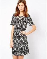 A Wear - Monochrome Printed Shift Dress - Lyst