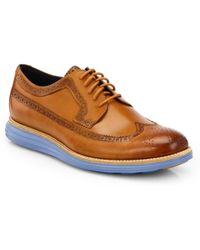 Cole Haan Lunargrand Long Lace-up Wingtips - Brown