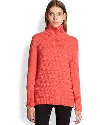 Cut25 by Yigal Azrouël Textured Stripe Wool Turtleneck Sweater