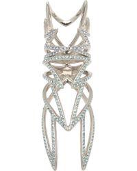 Eddie Borgo Pave Winged Hinged Ring - Metallic