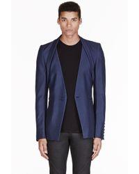 Gareth Pugh - Blue Shawl Collar Jacket - Lyst