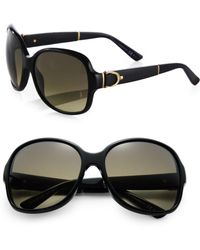Gucci Oversized Round Sunglasses - Lyst