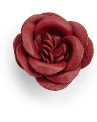 Hook + Albert - Vino Leather Lapel Flower Pin - Lyst
