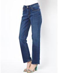 Levi's Levis Curve Id Demi Curve Straight Leg Jeans - Lyst