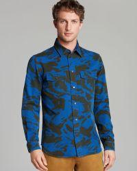 Marc By Marc Jacobs Clapham Camo Sport Shirt Slim Fit - Blue