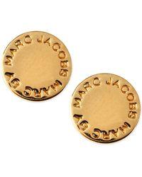 Marc By Marc Jacobs - Logo Disc Stud Earrings - Lyst