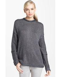 Trouvé  Faux Leather Trim Reversible Sweater - Lyst