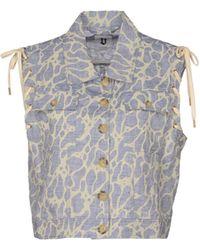 B Store Sleeveless Shirt blue - Lyst