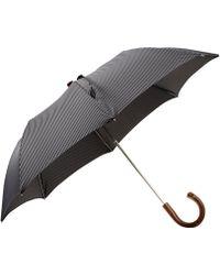 Barneys New York Compact Pinstripe Folding Umbrella - Lyst