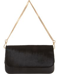 Barneys New York Ponyhair Evening Bag black - Lyst