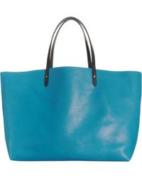 Barneys New York Blue Easy Tote - Lyst