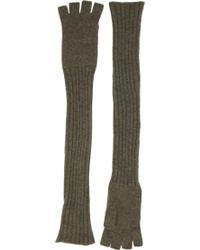 Barneys New York Extralong Fingerless Gloves - Lyst
