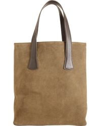 Barneys New York Suede Basic Tote - Lyst