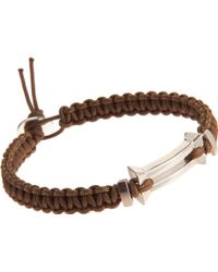Catherine Zadeh - Macrame Cord Bracelet with Silver Bar Bead - Lyst
