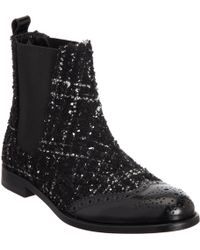 Dolce & Gabbana Boucle Brogue Chelsea Boot - Lyst