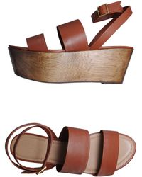 Elizabeth And James Leather Wedges Sandals - Lyst