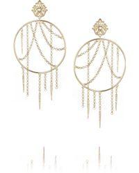 Isharya - Jaali Goldplated Freshwater Pearl Earrings - Lyst