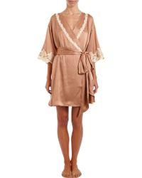 La Perla Maison Short Robe - Lyst