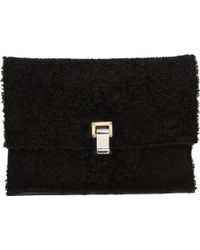 Proenza Schouler Large Lunch Bag Clutch Shearling Leather - Lyst