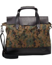 Rag & Bone - Digi Camo Canvas and Leather Briefcase - Lyst