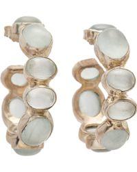 Sandra Dini Aquamarine Hoop Earrings - Metallic