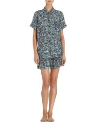 Sea - Digital Floral Short Sleeve Pyjama Shirt - Lyst